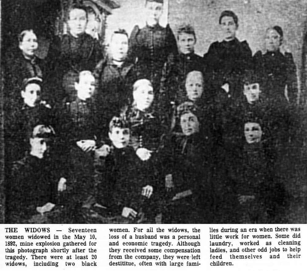Widows of the 1892 mine explosion