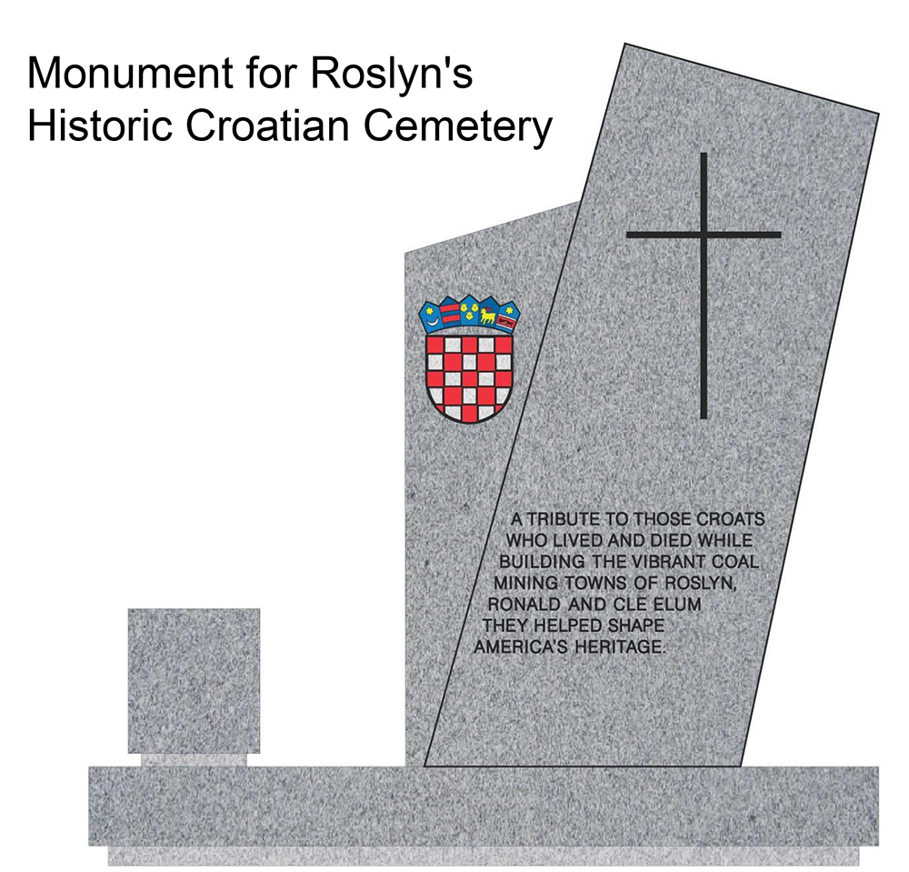 Artist's concept for new Monument honoring region's Croats