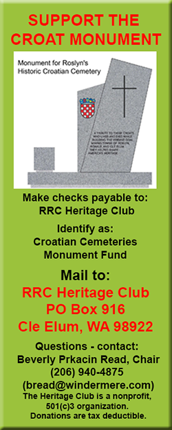 Croatian Monument fundraising goal closing in on target – Roslyn